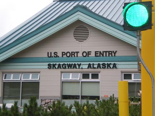 At border patrol station on Canada/Alaska border
