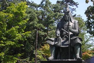【米沢】松岬神社‧上杉謙信像