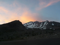 Sunset on Mt Shasta