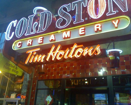 Hallelujah! A Tim Hortons on 42nd St.! Just across Ripley's!