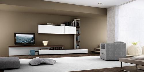 Modular Lcd Rack Panel Tv Moderno Living Progetto Mobili Modulares
