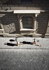 Broomstick Dance (eugkyr) Tags: street people italy florence dance broomstick colorphotoaward committeeofartists eugkyr