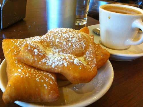 beignets and coffee at Morning Call in New Orleans