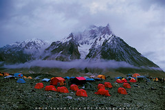 Clouds, Camps & Concordia (M Atif Saeed) Tags: camping pakistan mountain mountains nature trekking trek landscape bravo village concordia k2 karakoram marble areas northern camps northernareas baltoro atifsaeed gettyimagespakistanq1