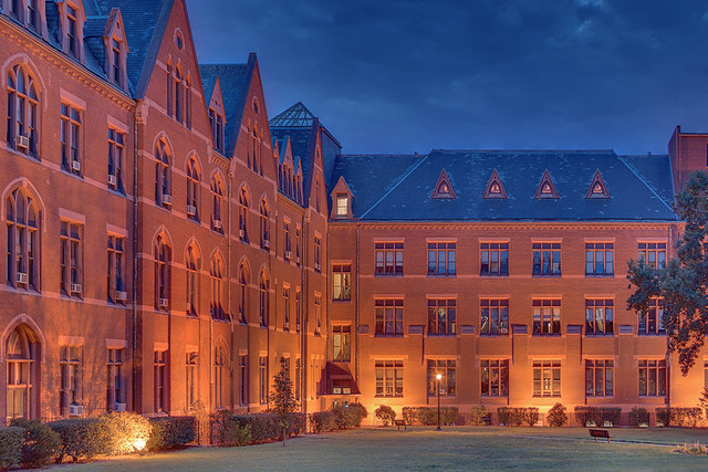 Saint Louis University, in Saint Louis, Missouri, USA - DuBourg Hall at dawn