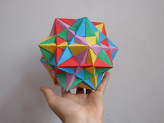 Compound of Five Cubes (.Oneironaut23) Tags: origami modular