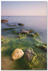 """""""Rock and sea"""" - For Shteiv (Pipall) Tags: sunset sea bw seascape black water speed canon lens coast rocks long exposure slow angle tripod wide tokina bulgaria coastal nd shutter gradient algae 1224mm f4 manfrotto ballhead cokin gnd ravda 322rc2 10stop nd110 rebelxti eos400d p121m 190xprob"""