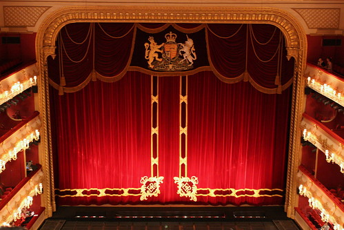 Royal Opera House London, Royal Crest and Red Curtains