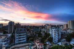 Dhaka - City of Colour (Wherever I Roam) Tags: city blue cityscape hour dhaka bangladesh hdr