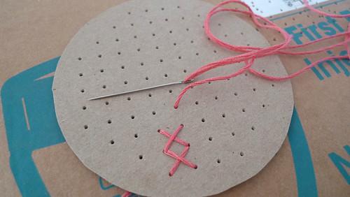 7. begin stitching