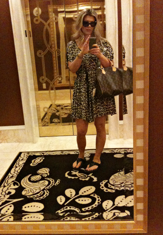 easy leopard print dress+what I wore shopping in vegas