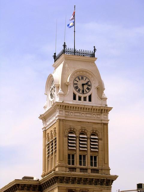 Louisville City Hall clock tower