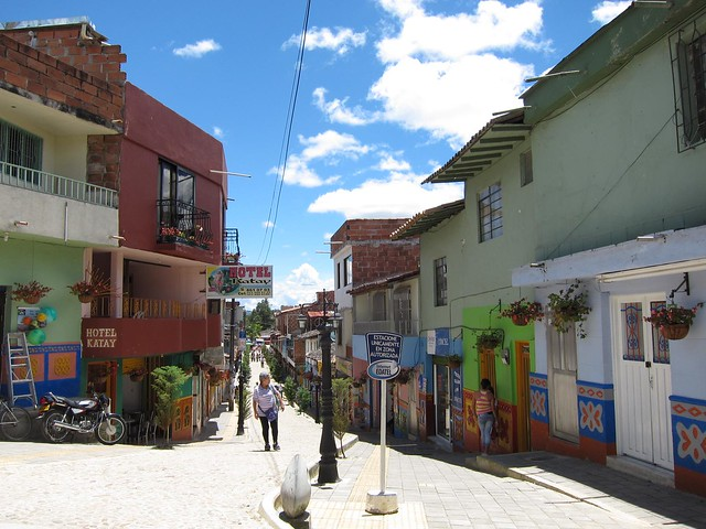 The pueblo of Guatape is a few hours outside of Medellin by bus.
