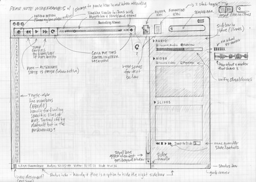 Pear Note 2.0 Sketch Wireframe v1
