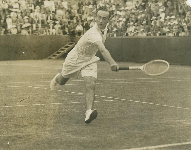 Tennis player competing at Milton, Brisbane