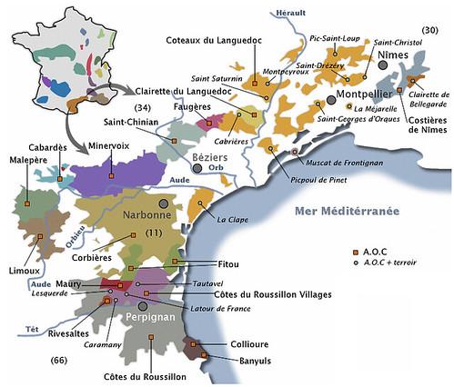 Map Languedoc-Roussillon