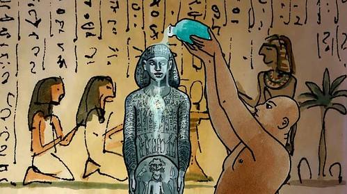 Photo diaporama - Le secret de la statue de prêtre de Bastet