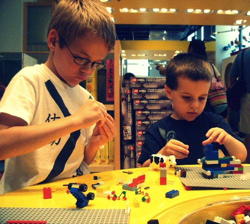 Lego Designers in training