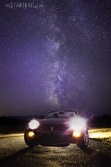 Fancy Stars (Ben Canales) Tags: cars car night dark stars star solstice pontiac starry milkyway bencanales thestartrailcom