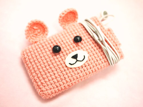 Mr Bear Crochet iPhone iPod Touch Cozy Cover