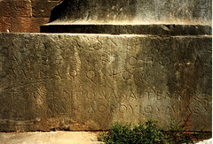 Delphi (XXV) (isawnyu) Tags: history archaeology greek ancient tripod masonry delphi greece civilization base inscription gelon inscribed epigraphy pleiades:depicts=540726