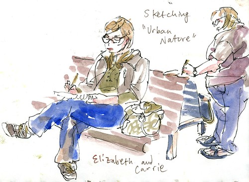 Urban Sketchers Elizabeth and Carrie