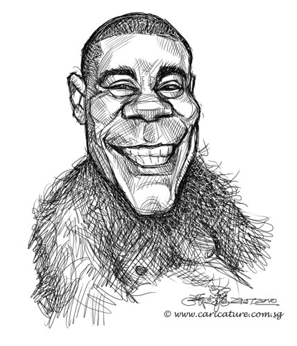 digital sketch studies of Tracy Morgan - 1