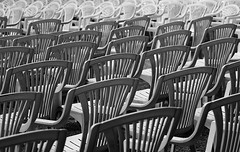 Take A Seat ... (AnyMotion) Tags: blackandwhite bw concert chairs konzert sthle 2010 badhomburg schlosshof anymotion badhomburgvorderhhe