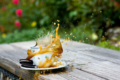 coffee splash (PuertoNico) Tags: food brown motion coffee cookies breakfast speed drops high essen keks cookie drink drinking kaffee freeze bewegung braun oreo splash trinken kekse highspeed spritz hispeed tropfen highspeedphotography gefroren fruestueck spritzen getraenk hochgeschwindigkeit hochgeschwindigkeitsfotografie hochgeschwindigkeitsphotographie