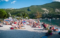 Riva del Garda beach