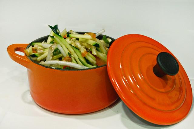 Spicy Asian Zucchini Slaw