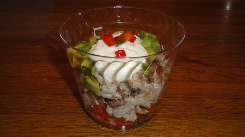 Crab and avacado salad