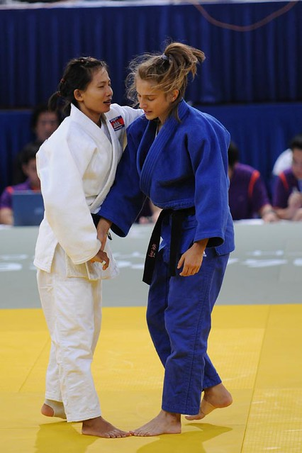 ... vs sam sothea cambodia at the singapore youth olympic games judo