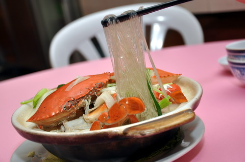 Claypot Crab with Korean Glass Noodle