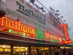 The Coney Island Hot dog Place (MBrilhart) Tags: island famous coney nathans