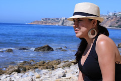 0015_SuzieTest (katNovoa) Tags: lighthouse southbay beachhat pointvincent shortblackdress suzielara