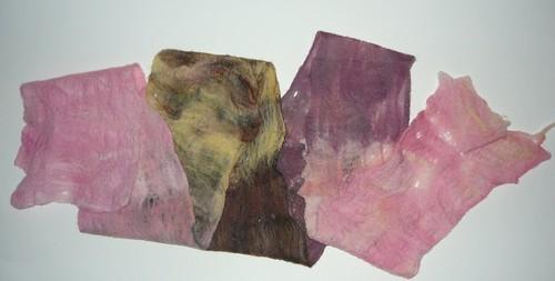Cobweb felted merino scarf