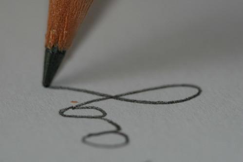 writing close up
