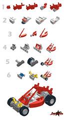 Dune Buggy (instructions) (ZetoVince) Tags: red car greek jump desert lego offroad dune vehicle kart instructions cart buggy zeto zetovince dreamdealer