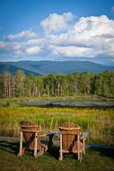 Adirondacks in the Berkshires (Bill from Boston) Tags: house field ma chairs farm relaxing adirondacks williamstown berkshires guest adirondack the fieldfarm