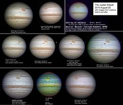 Impacto en Júpiter el 20 de agosto