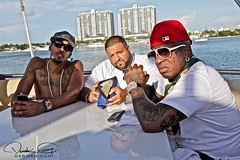 BIRDMAN YMCMB YACHT PARTY... Stunna partying with dime models