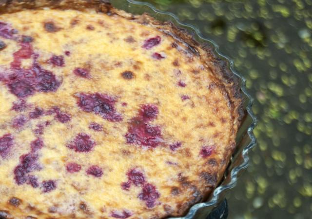 Raspberry Creme Brulee Tart