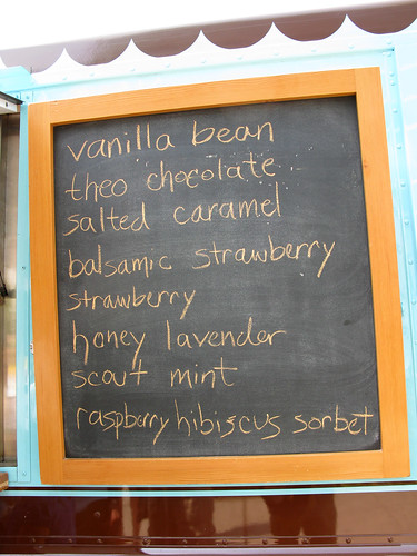 Molly Moon's ice cream chalkboard menu