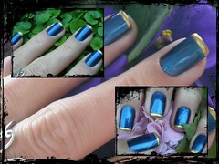 Unha da semana - Blue nail (Mhilka ♥) Tags: blue art azul nail nailart unha esmalte colorama francesinha