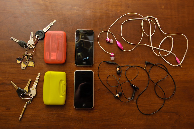 Keys, Capsul Wallets, iPhones, Headphones