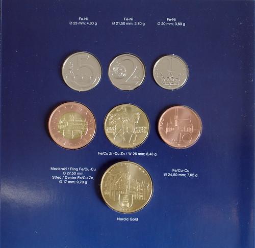 Monedas de la República Checa, 2010