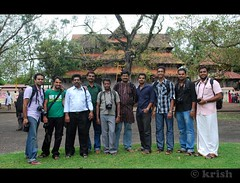 Group Photo at Trissur. (Krish | ) Tags: festival nikon colours performance culture kerala bodypainting cultural onam krish facemask d60 trissur pulikkali tigerdance swarajround discoverplasnetinternational