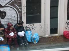 Luggage (indigo_jones) Tags: morning holland students netherlands rain umbrella university utrecht boots nederland luggage ah bags tradition albertheijn morningsuit regen paraplu introduction unitas rainsuit ontgroening