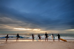 morning training (Pawel Papis Photography) Tags: ocean morning blue light people seascape beach water clouds training sunrise coast morninglight sand paradise board wave australia teen surfboard surfers dri warmlight surfersparadise goldcoast pawel teenages trener